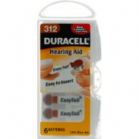 Duracell Hearing Aid Battery - 312 - Pack 6